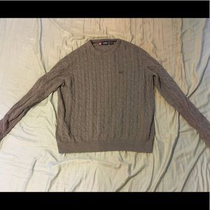 Chaps grey cable knit sweater